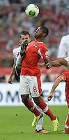 Fussball International  WM Qualifikation 2014   06.09.2013 Deutschland - Oesterreich  David Alaba (re, Oesterreich) gegen Miroslav Klose (Deutschland)