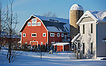 A collection of Barns that still can be seen while traveling the countryside in  the beautiful State of Wisconsin.<br /> Dane County- Red barn and homes off of Lacy Rd in Fitchburg.