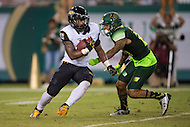Tampa, FL - September 4th, 2016: Towson Tigers wide receiver Dillon Tighe (13) returns a punt against USF at Raymond James Stadium in Tampa, FL. (Photo by Phil Peters/Media Images International)