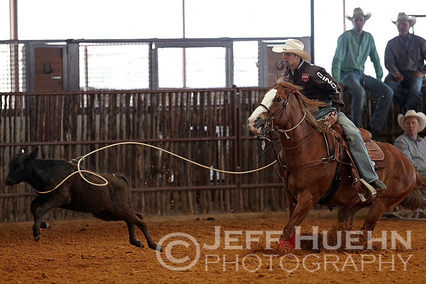 HONDO, TX - MAY 15, 2011: The Second Annual Namgis Premier Tiedown Roping competition presented by McCoy's. (Photo by Jeff Huehn)