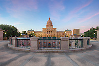 The annex of the State Capitol in Austin, Texas, was completed in 1993. Seen here from the north side of the historic complex, the 65 foot deep hole adds a uniqueness to this beautiful location.