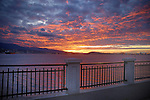 Sunset looking towards north Vancouver, From, Stanley park,Vancouver, Canada.