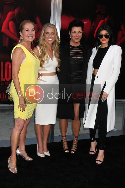 Kathie Lee Gifford, Cassidy Gifford, Kris Jenner, Kylie Jenner <br /> at the &quot;The Gallows&quot; Premiere, Hollywood High School, Hollywood, CA 07-07-15<br /> David Edwards/DailyCeleb.com 818-249-4998