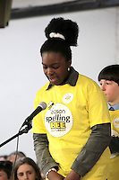 NO FEE PICTURES.8/3/12 Edel Ezeh, Presentation Primary, Blackpitts , taking part in the Dublin County final, part of the overall Eason 2012 Spelling Bee, held at St Olaf's NS, Dundrum. .For further details visit www.easons.com/spellingbee and stay tuned to RTE 2fm. Picture:Arthur Carron/Collins