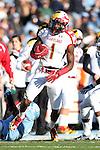 24 November 2012: Maryland's Stefon Diggs. The University of North Carolina Tar Heels played the University of Maryland Terrapins at Kenan Memorial Stadium in Chapel Hill, North Carolina in a 2012 NCAA Division I Football game. UNC won 45-38.