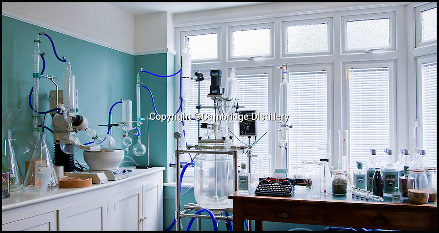 BNPS.co.uk (01202 558833)<br /> Pic: CambridgeDistillery/BNPS<br /> <br /> Will Lowe's distillery where he makes the very expensive gin looks more like a laboratory.<br /> <br /> A British distiller has just launched the world's most expensive gin - with a 70cl bottle costing a staggering &pound;2,000.<br /> <br /> Just six bottles of the prized spirit were made by Cambridge's Will Lowe after he found a way to capture the 'angel's share' - the minuscule amount lost to evaporation during distilling - of his premium Japanese Gin.<br /> <br /> Canny Will painstakingly collected just 15 millilitres of the evaporated gin from each distillation, around one per cent of the entire batch, until he had enough to fill six decanters.<br /> <br /> The 45 per cent ABV gin, called Watenshi, has just gone on sale at upmarket London store Selfridge's - and with its massive &pound;2,000 price tag the exclusive tipple is more than four times the price of Dutch dry gin Nolet's Reserve, which at &pound;450 a bottle was previously regarded as the world's most expensive gin.