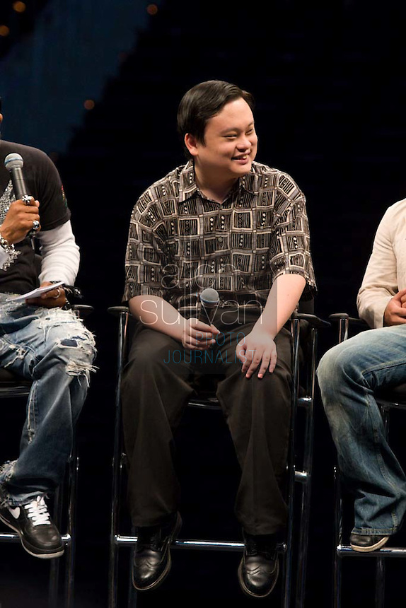 "Former ""American Idol"" contestant William Hung speaks during a Dreams N2 Reality show and casting call at Philips Arena in Atlanta on Saturday, August 4, 2007. People offered their auditions in hopes of gaining spots on game shows and others in the reality TV genre."