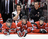 Ryan Ellis (Canada - 8), ?, Thomas Hickey (Canada - 4), ?, Cody Goloubef (Canada - 17) - Canada defeated Kazakhstan 15-0 on Sunday, December 28, 2008, at Scotiabank Place in Kanata (Ottawa), Ontario, during the 2009 World Junior Championship.