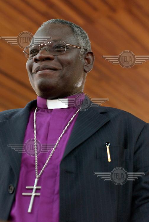 Archbishop Peter Akinola in an Anglican church in Abuja. Akinola is Anglican Primate of Nigeria.