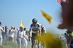 World Champion Peter Sagan (SVK) Bora-Hansgrohe on pave sector 14 Beuvry to Orchies during the 115th edition of the Paris-Roubaix 2017 race running 257km Compiegne to Roubaix, France. 9th April 2017.<br /> Picture: ASO/P.Ballet | Cyclefile<br /> <br /> <br /> All photos usage must carry mandatory copyright credit (&copy; Cyclefile | ASO/P.Ballet)