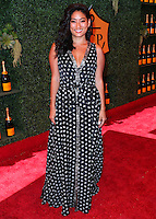 PACIFIC PALISADES, CA, USA - OCTOBER 11: Chloe Flower arrives at the 5th Annual Veuve Clicquot Polo Classic held at Will Rogers State Historic Park on October 11, 2014 in Pacific Palisades, California, United States. (Photo by Xavier Collin/Celebrity Monitor)