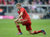 FUSSBALL   1. BUNDESLIGA  SAISON 2011/2012   31. Spieltag FC Bayern Muenchen - FSV Mainz 05       14.04.2012 Thomas Mueller (FC Bayern Muenchen)