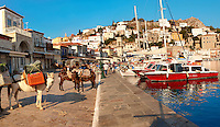 The historic port of Hydra,  Greek Saronic Islands