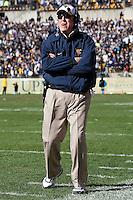 WVU head coach Bill Stewart. The WVU Mountaineers defeated the Pitt Panthers 35-10 at Heinz Field, Pittsburgh, Pennsylvania on November 26, 2010.