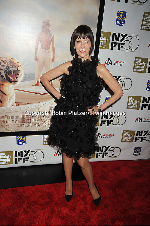 """Ellen Greene in Armani black dress, star of """"Little Shop of Horrors"""" attends the 50th Annual New York Film Festival Opening Night Gala presentation of """"Life of Pi"""" starring Suraj Sharma and directored by Ang Lee on September 28, 2012 in New York City. The screening was at Alice Tully Hall at Lincoln Center."""