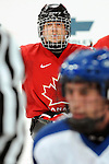 Jean Labonté looks on during a face-off during a sledge hockey game at the 2010 Paralympic Games in Vancouver. Credit: CPC/HC/Matthew Manor.