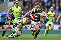 Jack Roberts of Leicester Tigers goes on the attack. Aviva Premiership match, between Leicester Tigers and Sale Sharks on April 29, 2017 at Welford Road in Leicester, England. Photo by: Patrick Khachfe / JMP