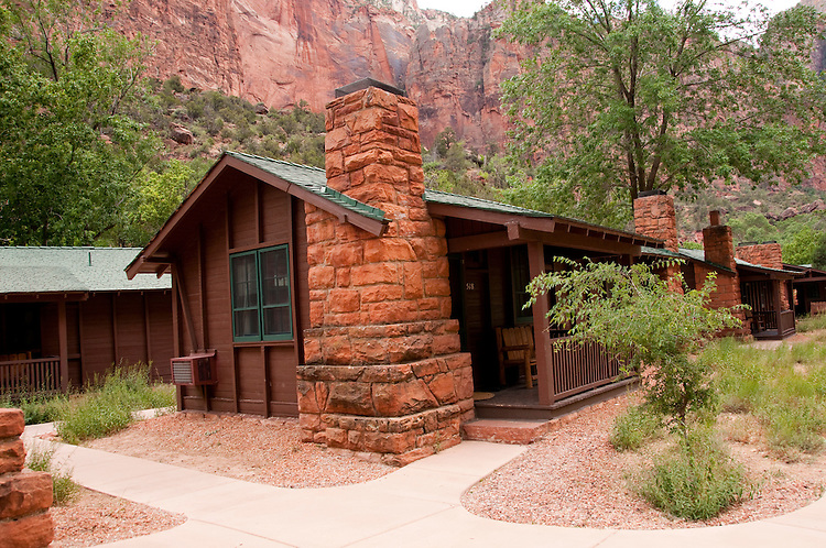 Usa utah zion national park the lodge only lodging in for Cabin zion national park