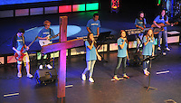 NWA Democrat-Gazette/MICHAEL WOODS &bull; @NWAMICHAELW<br /> Students with How To Life, a group of high-school students mobilized to lead their peers to stand and live for Jesus, preformes  during a pep rally Thursday April 7, 2016, at Cross Church in Springdale.