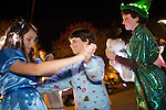 The characters from Peter Pan dance together at the Festival of Lights Parade.