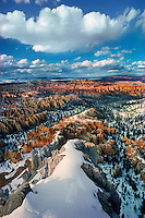 The visibility appears endless on a clear winter day in Bryce Canyon, Utah.