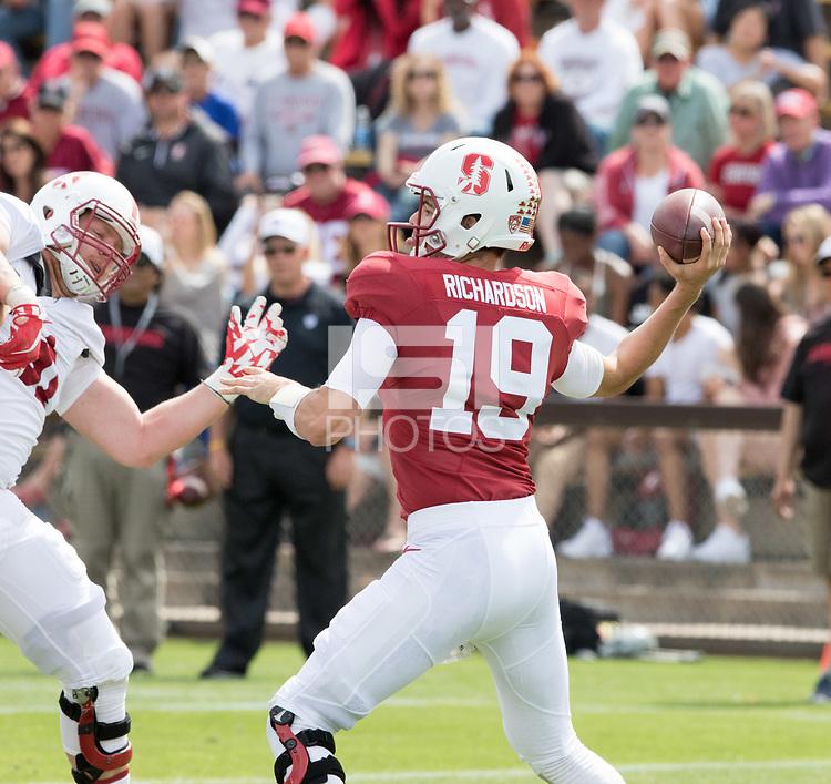 Stanford, CA - April15, 2017:  Jack Richardson  at Cagan Stadium.