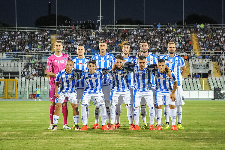 The Pescara Team during the Italian Cup - TIM CUP -match between Pescara vs Frosinone, on August 13, 2016. Photo: Adamo Di Loreto/BuenaVista*photo