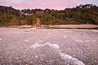 Sunset on beach at Ship Creek near Haast, West Coast, South Westland, UNESCO World Heritage Area, New Zealand, NZ