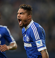 FUSSBALL   1. BUNDESLIGA   SAISON 2013/2014   12. SPIELTAG FC Schalke 04 - SV Werder Bremen                           09.11.2013 Kevin-Prince Boateng (FC Schalke 04) jubelt nach dem 1:1.