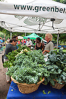 A farmers' market overflowing with fresh, local produce from Ontario's Greenbelt.