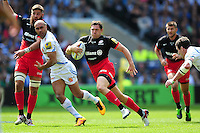 Alex Goode of Saracens goes on the attack. Aviva Premiership Final, between Saracens and Exeter Chiefs on May 28, 2016 at Twickenham Stadium in London, England. Photo by: Patrick Khachfe / JMP