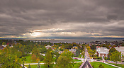 The UVM Campus, Burlington, Vermont and Lake Champlain, Fall UVM Campus