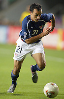 Landon Donovan turns the ball upfield. The USA lost to Germany 1-0 in the Quarterfinals of the FIFA World Cup 2002 in South Korea on June 21, 2002.