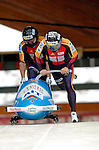 19 November 2005: Andre Lange pilots the Germany 1 sled to a first place gold medal finish at the 2005 FIBT AIT World Cup Men's 2-Man Bobsleigh Tour at the Verizon Sports Complex, in Lake Placid, NY. Mandatory Photo Credit: Ed Wolfstein.
