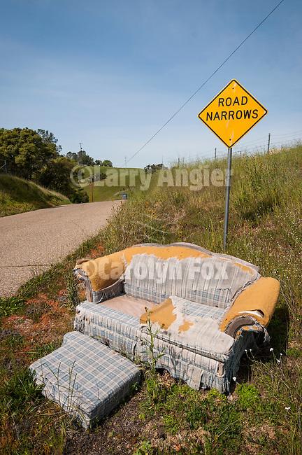 Roadside chair near Ione, Calif.
