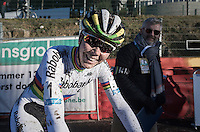 Happy race winner; World Champion Thalita de Jong (NED/Rabo-Liv)<br /> <br /> 2016 CX Superprestige Spa-Francorchamps (BEL)