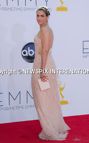 "AMANDA PEET - 64TH PRIME TIME EMMY AWARDS.Nokia Theatre Live, Los Angelees_23/09/2012.Mandatory Credit Photo: ©Dias/NEWSPIX INTERNATIONAL..**ALL FEES PAYABLE TO: ""NEWSPIX INTERNATIONAL""**..IMMEDIATE CONFIRMATION OF USAGE REQUIRED:.Newspix International, 31 Chinnery Hill, Bishop's Stortford, ENGLAND CM23 3PS.Tel:+441279 324672  ; Fax: +441279656877.Mobile:  07775681153.e-mail: info@newspixinternational.co.uk"