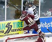 Michael Sit (BC - 18), Brandon Tanev (PC - 22) - The Providence College Friars tied the visiting Boston College Eagles 3-3 on Friday, December 7, 2012, at Schneider Arena in Providence, Rhode Island.