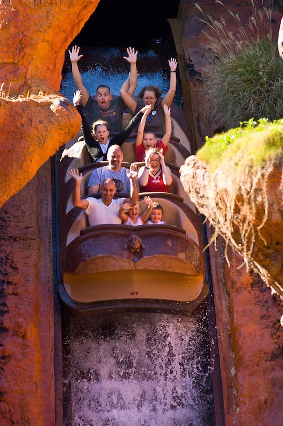 Splash Mountain ride, Disney World, Orlando, Florida USA