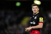 Owen Farrell of Saracens looks on during a break in play. Aviva Premiership match, between Bath Rugby and Saracens on April 1, 2016 at the Recreation Ground in Bath, England. Photo by: Patrick Khachfe / Onside Images