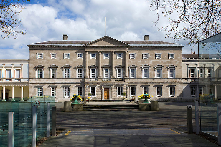 Leinster House, Dail Eireann, Kildare St. Dublin, designed by Richard Cassels. It is currently now houses The National Parliament of Ireland
