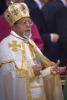 Cardinal Ethiopian Berhaneyesus Demerew Souraphie. Pope Francis,  at St. Peter's Basilica in Vatican.during the mass New Cardinals on February 15 2015