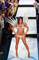 Miami Dolphins Cheerleader, Samantha, walks runway at Miami Dolphins Cheerleaders 2013 Swimsuit Calendar Unveiling Fashion Show at LIV Nightclub in The Fontainebleau Miami Beach Hotel, Miami Beach, FL on August 26, 2012