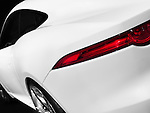 White Jaguar C-X16 concept sports car tail light detail closeup