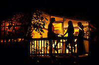 Night scene from a tent cottage<br /> Maho Bay<br /> St John.Virgin Islands National Park