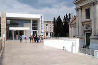 Roma May 12 2008.The Ara Pacis Augustae .To cover building  designed by American architect Richard Meier.The new building was opened in 2006