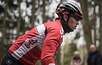Sean De Bie (BEL/Lotto Soudal)<br /> <br /> Team Lotto-Soudal at the Li&egrave;ge-Bastogne-Li&egrave;ge 2017 recon