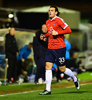 York City's Sean Newton<br /> <br /> Photographer Andrew Vaughan/CameraSport<br /> <br /> The Buildbase FA Trophy Semi-Final First Leg - York City v Lincoln City - Tuesday 14th March 2017 - Bootham Crescent - York<br />  <br /> World Copyright &copy; 2017 CameraSport. All rights reserved. 43 Linden Ave. Countesthorpe. Leicester. England. LE8 5PG - Tel: +44 (0) 116 277 4147 - admin@camerasport.com - www.camerasport.com