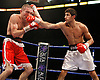 November 9th 2007 - Darren Gethin (L) and Adnan Amar trade blows during their bout at the Ice Arena, Nottingham, England.
