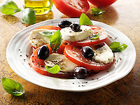 Buffalo mozzarella and tomato salad